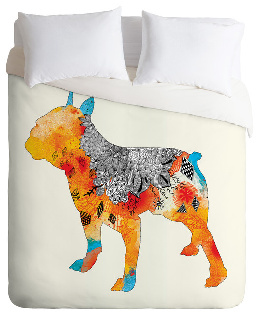 Iveta Abolina Frenchie Duvet Cover eclectic-duvet-covers