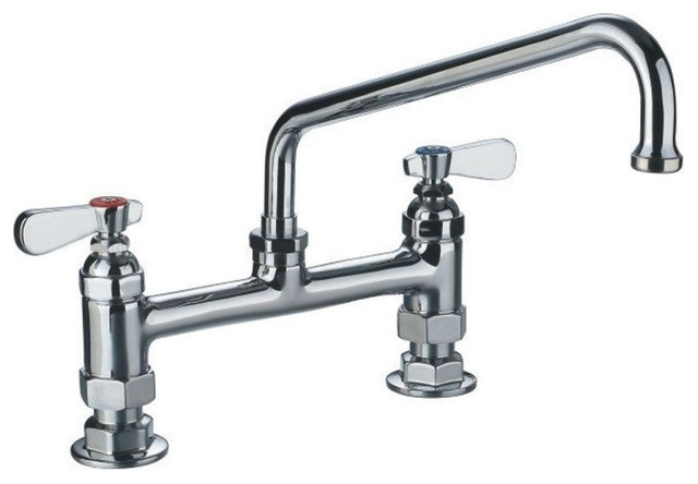 Faucet Utility Sink : Utility Bridge Faucet in Polished Chrome - Contemporary - Utility Sink ...