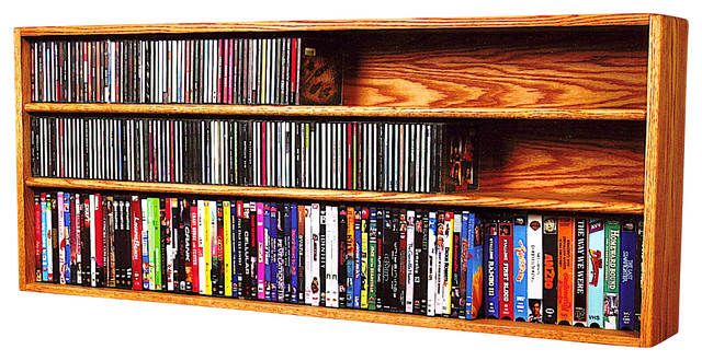 Solid Oak Wall Or Shelf Mount For CD And DVDVHS TapeBook