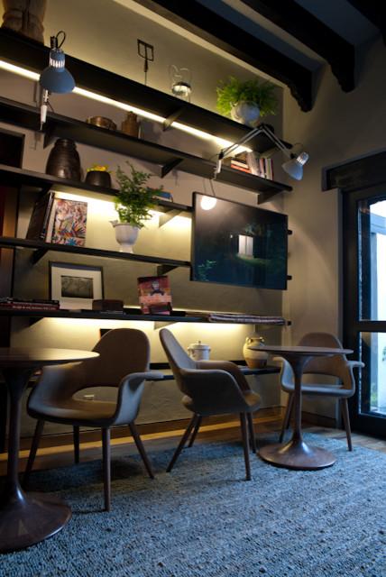 bookcase contemporary-wall-shelves