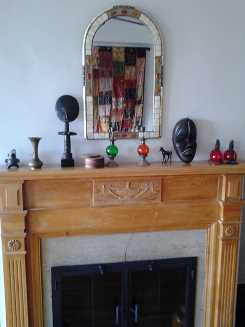 African objects, moroccan table eclectic-fireplace-accessories