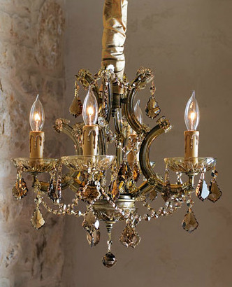 Four-Light Amber Chandelier traditional-chandeliers
