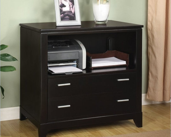 Wynwood Palisade Printer Filing Cabinet in Dark Sable - Features: