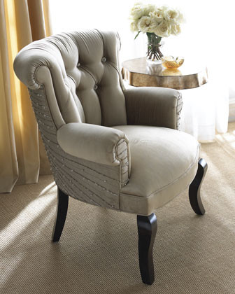 """Haute House - """"Golden Gown"""" Chair traditional-living-room-chairs"""
