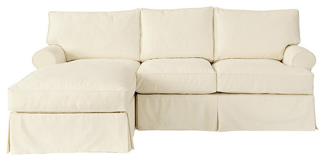 Davenport 2-Piece Sectional with Left Arm Chaise Frame traditional-sectional-sofas