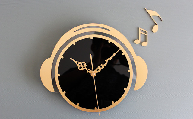 125H Fashion Acrylic Wall Clock GOLDEN Modern