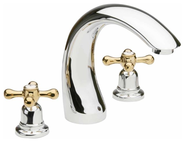 Brass/Chrome Widespread Faucet - Transitional - Bathroom Faucets And ...