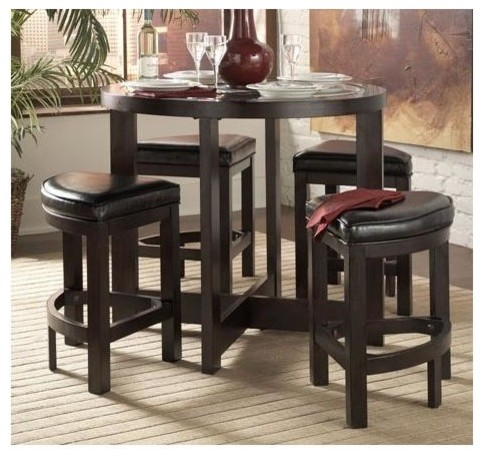 brussel 5 piece counter height table set contemporary indoor pub and bistro sets by ivgstores. Black Bedroom Furniture Sets. Home Design Ideas