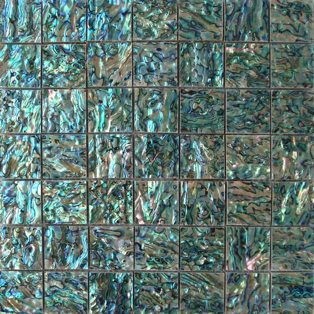 Abysmal sea shell tile for kitchen backsplash & bath walls ...