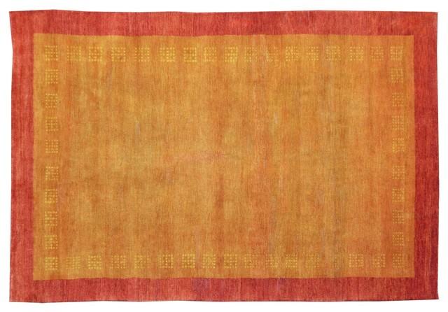 Oriental Rug Lori Buft Gabbeh Orange Hand Knotted Rug Sh9143 modern-rugs