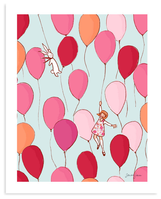 "Balloons, 16""x20"" contemporary-kids-wall-decor"