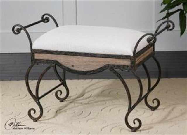 Uttermost Bryn Metal Small Bench modern-indoor-benches