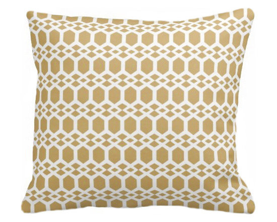 PURE Inspired Design - Smock Organic Pillow Cover, Mustard/Natural, 18 X 12 - Collection:  PURE Beach