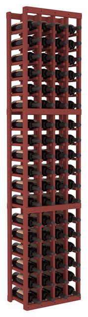 4 Column Standard Wine Cellar Kit in Pine, Cherry contemporary-wine-racks