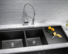 BLANCO PRECIS™ MULTILEVEL 1-3/4 Bowl With Drainer contemporary-kitchen-sinks