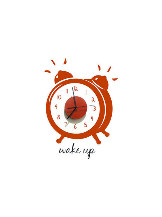 Wake Up Clock Decal -