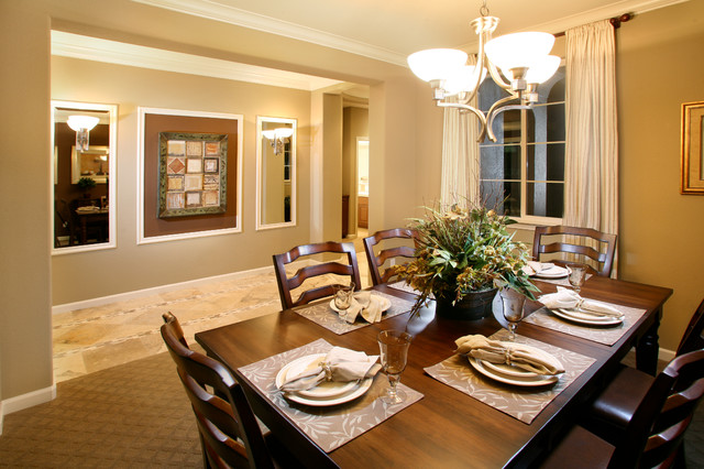 Model homes traditional dining room kansas city by for Model home dining room
