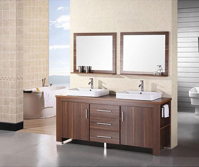 Design Element Altima 72-inch Double Sink Bathroom Vanity Set contemporary-bathroom-vanities-and-sink-consoles