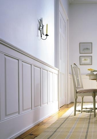 Classic Traditional Raised-Panel Wainscoting traditional hardware
