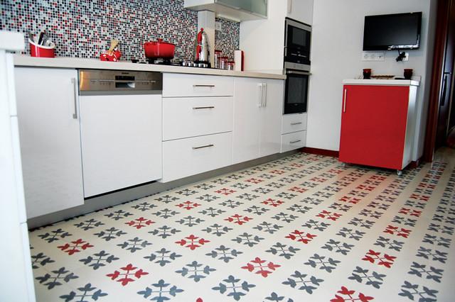 Self stick cork floor tiles