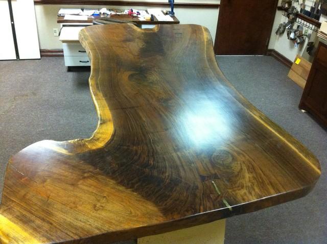 Pennsylvania Walnut Slab from Gettysburg traditional-dining-room