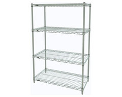 Metro Shelving Unit - 48x14x54 White industrial-garage-and-tool-storage