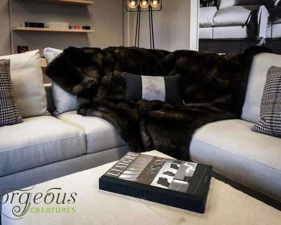 NZ Possum Fur Throws & Blankets - New Zealand Possum fur is an incredibly silky soft, plush, warm and luxurious natural product. This comes with a lovely velvet textured fabric backing.