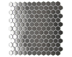 Honeycomb Hexagon Mosaic Stainless Steel Tile contemporary-tile