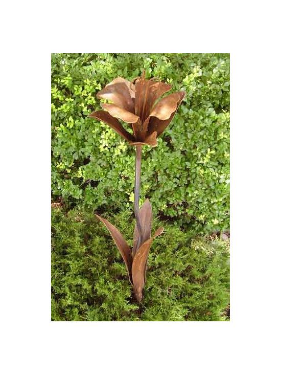 Iron Daffodil Garden Art -