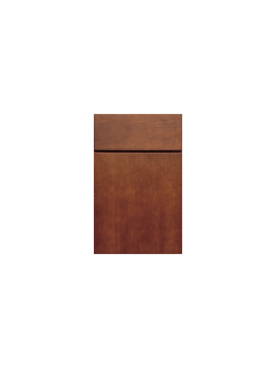Cherry Door Styles from Wellborn Cabinet, Inc. - Milan Cherry is the height of plush, contemporary style. The eased edge created by edge banding and clean precise lines form the structure of this sophisticated design. Featured here in Cocoa Java - Beautiful!
