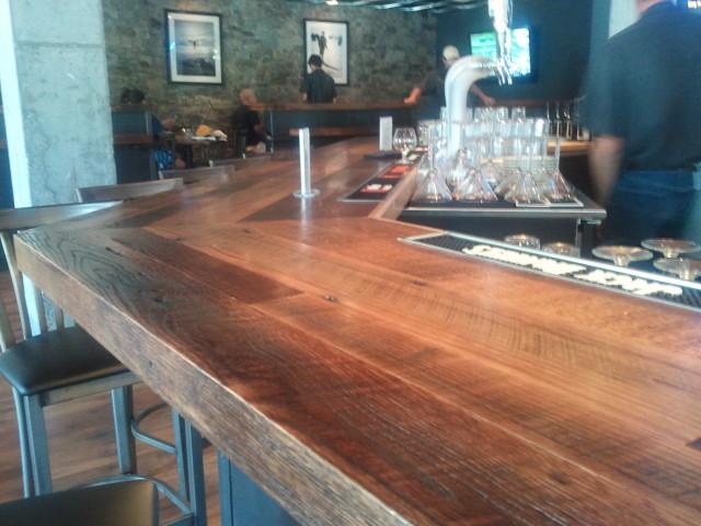Reclaimed Oak Bar Top Wine Cellar By DesignWorks