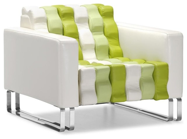 Ultra Modern Accent Chair W Multi Colored Fau Modern Armchairs And Accent Chairs