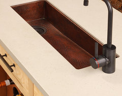 Rio Chico Copper Bar & Prep Sink by Native Trails contemporary-bar-sinks