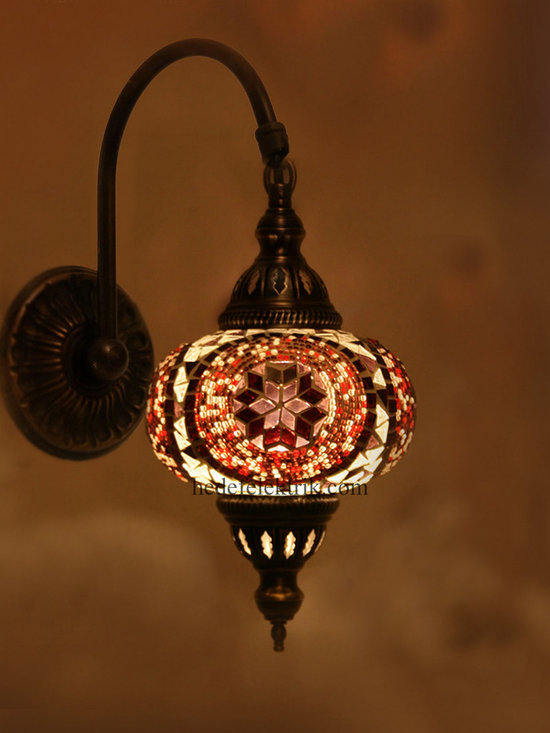 Turkish Style Mosaic Lighting Wall Sconce - Code: HD-20003_04