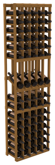 5 Column Display Row Wine Cellar Kit in Redwood, Oak contemporary-wine-racks