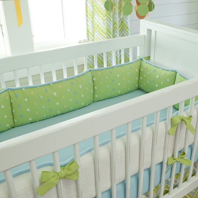 Lime Charades Crib Bumper contemporary-baby-and-kids