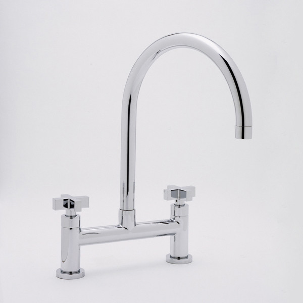 Rohl Rohl Modern Architectural Bridge Kitchen Two Handle Faucet Modern Kitchen Faucets