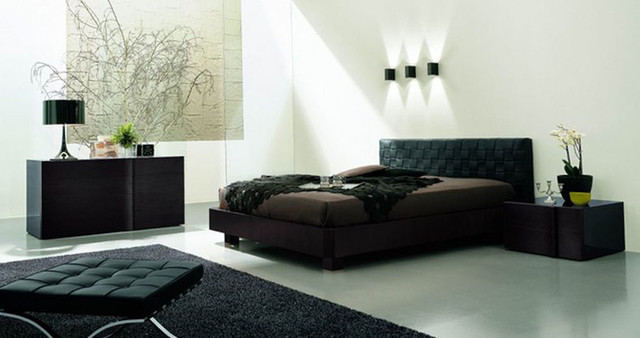 Made in Italy Leather Designer Bedroom Sets - modern - beds ...