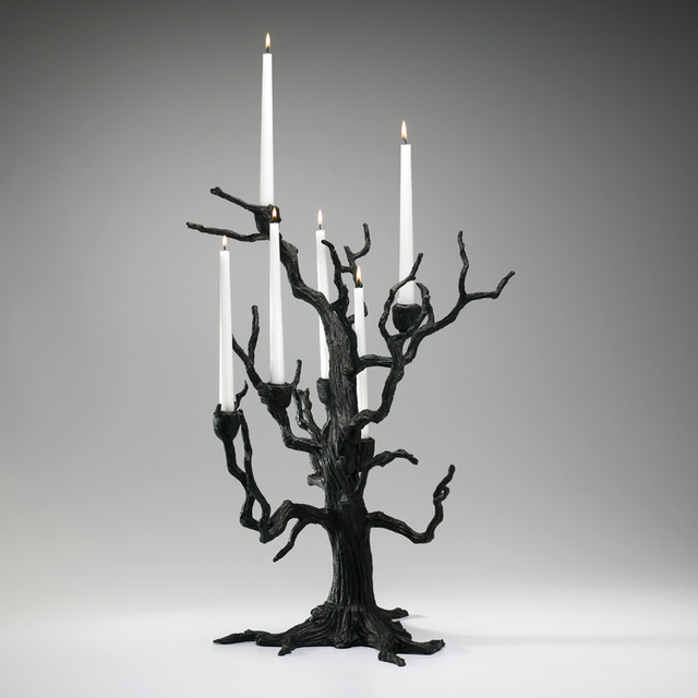 Cyan Tree Table Candleholder Old World 02831 contemporary-candleholders