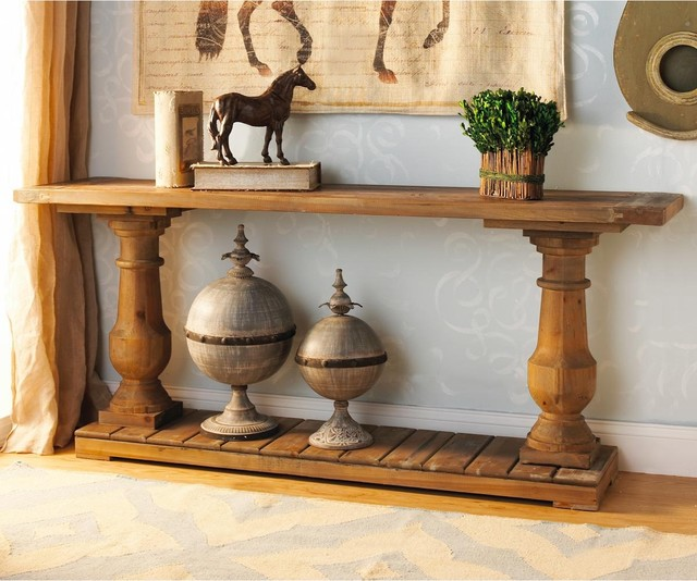 wood turned baluster console table coffee tables by