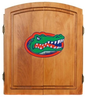 NCAA Dart Board Cabinet - Oak modern-bathroom-vanities-and-sink-consoles