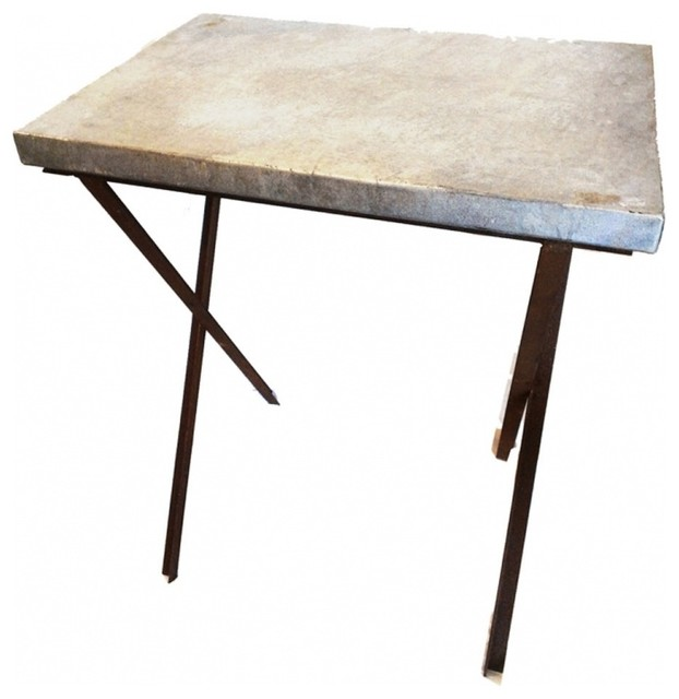 Zinc Industrial Side Tables contemporary-side-tables-and-accent-tables