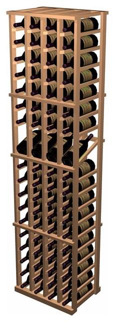Designer Series Wine Rack - 4 Column Individual w/ Display traditional-wine-racks