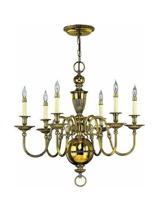 Hinkley Lighting 4416BB 6 Light Chandelier Cambridge Collection -