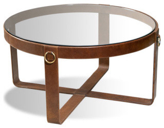 Jameson Leather Cocktail Table contemporary coffee tables
