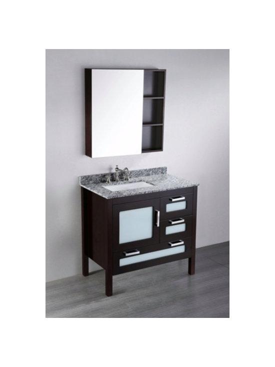 """Bosconi Contemporary Single Vanity 37""""W x 21""""L x 35""""H -"""