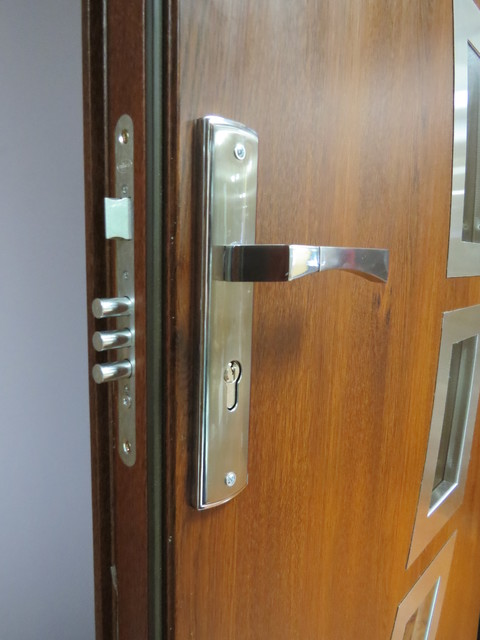3 Point Security Lock System - Modern Front Entry Metal PVC Doors - Modern - Door Locks - new ...