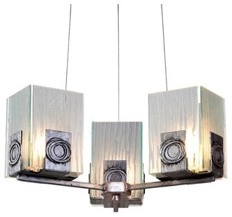 Recycled Polar 3 Light Chandelier modern-chandeliers