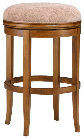 Hillsdale Oak View Backless Swivel 24 Inch Counter Height