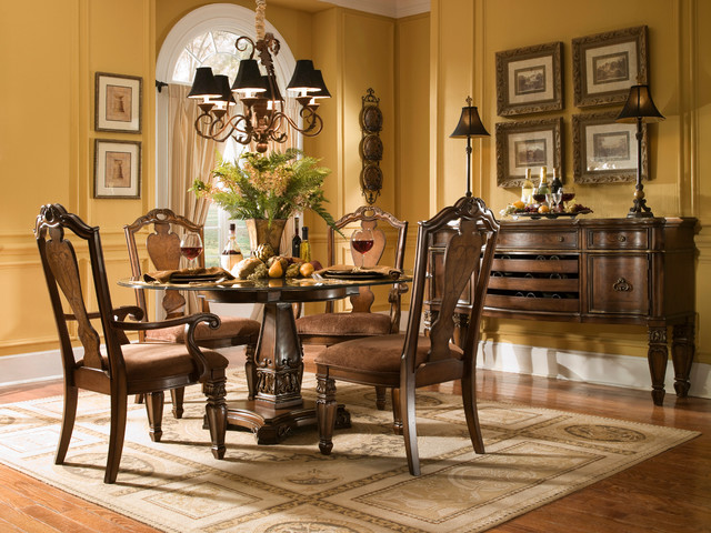 Traditional dining table base traditional table tops for Traditional dining table bases